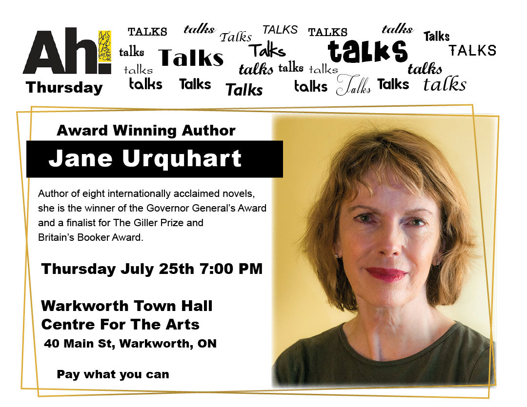 Ah Talks - Jane Urquhart